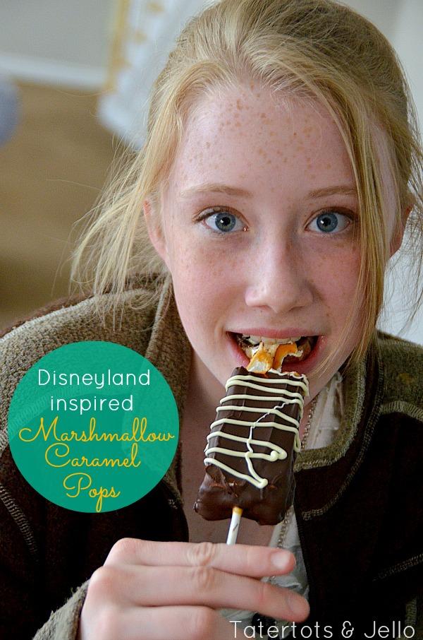 disneyland Inspired Marshmallow Caramel Pops