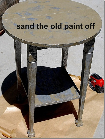 sand the old paint off