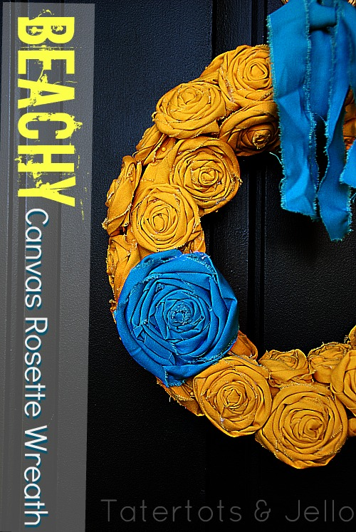 beachy summer rosette wreath
