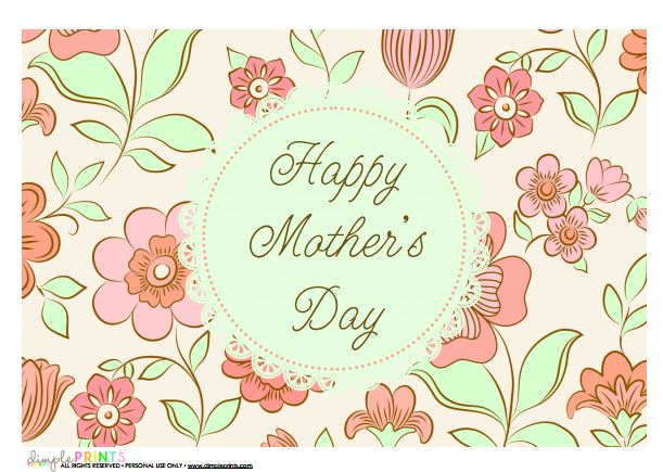 mothers day printable from dimple prints