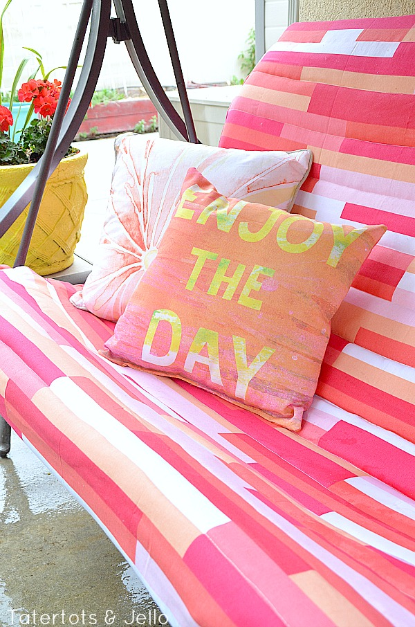 outdoor canopy swing makeover at tatertots and jello