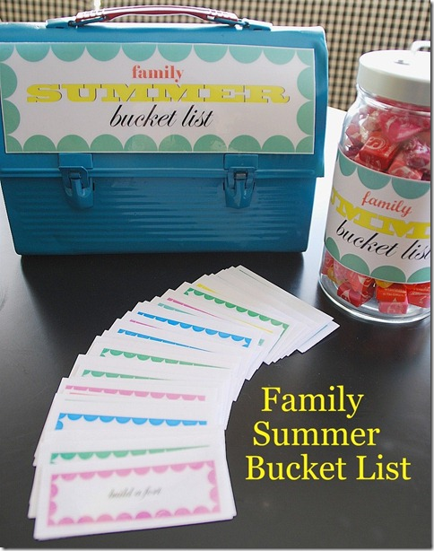 summer bucket list free printables