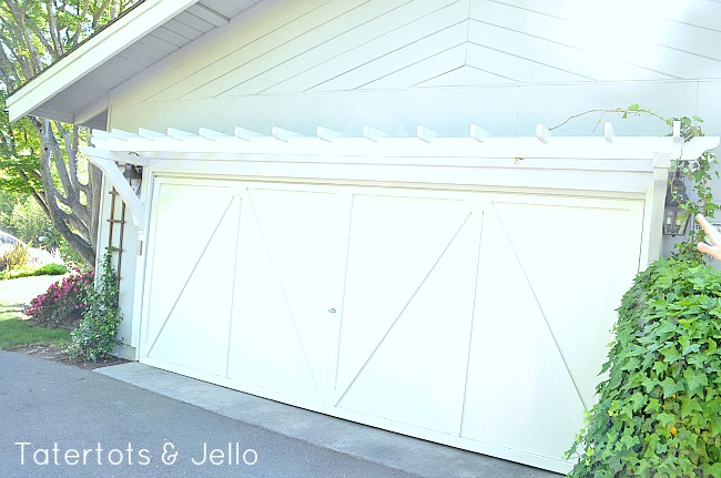 trellis over the garage door