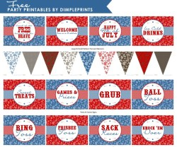 fourth of july party printables