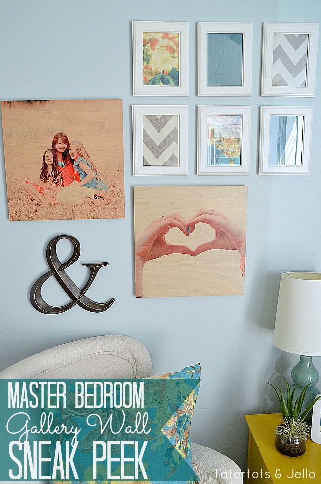 master bedroom gallery wood wall art