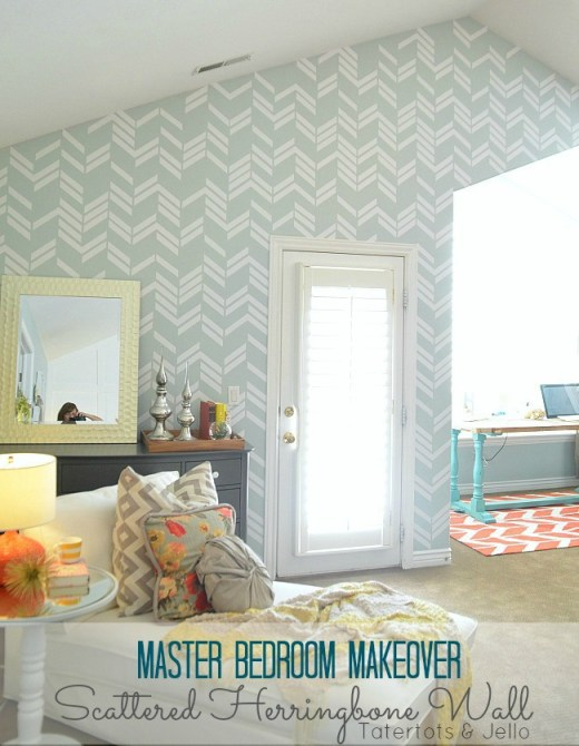 Herringbone wall treatment - tatertotsandjello.com