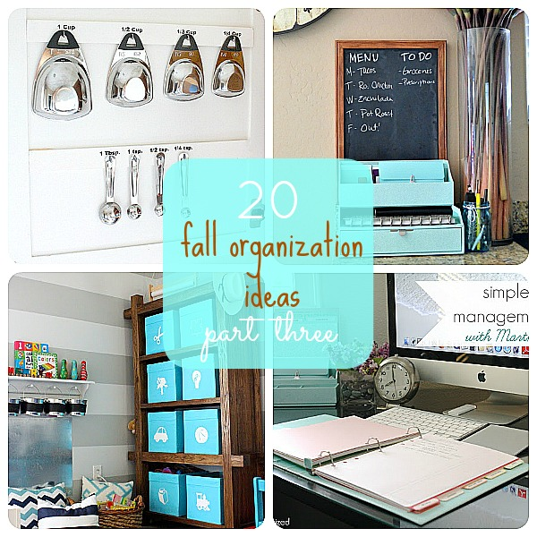 20 Fall Organization Ideas Part Three
