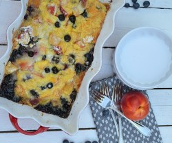 cake mix fresh fruit cobbler