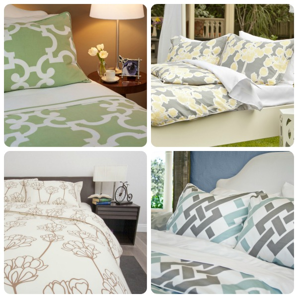 crane and canopy duvet collage