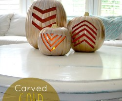 carved gold tribal pumpkis
