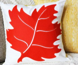 fall leaf pillow