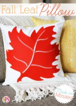 Make a Fall Leaf Pillow in Minutes!