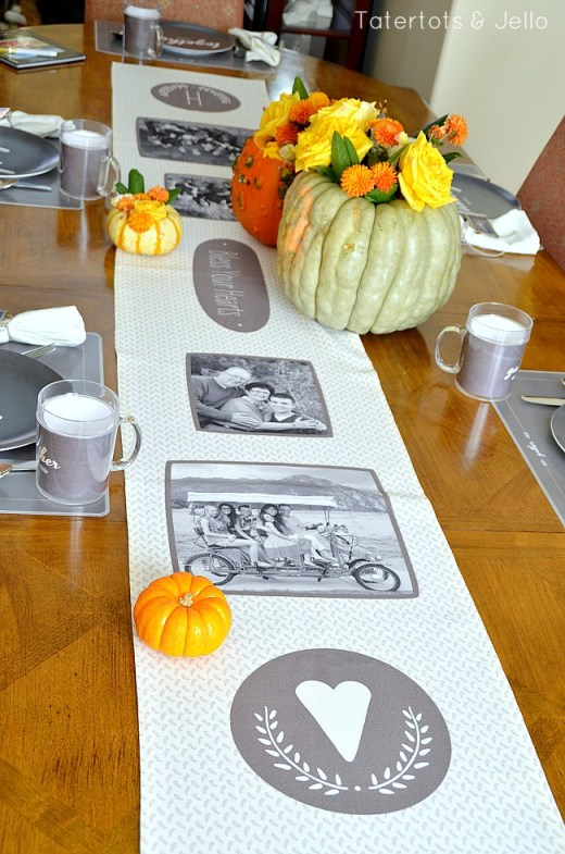 photo thanksgiving runner from shutterfly