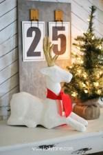 HAPPY Holidays: White Paper Mache Deer!