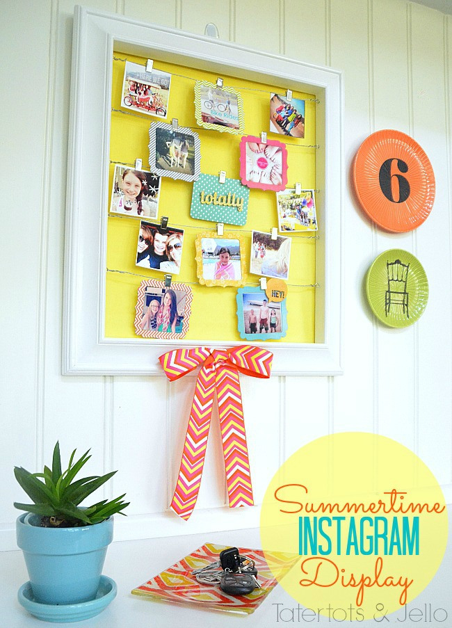 instagram display wall