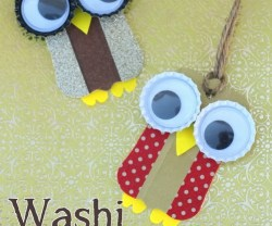 Happy Holidays: Washi Tape Owl Ornaments