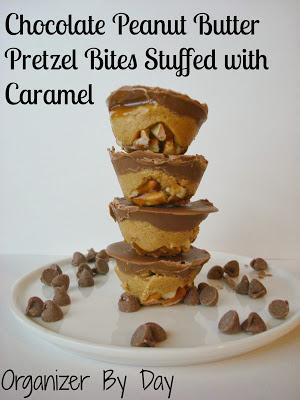 Chocolate Peanut Butter Pretzel Bites @ Organizer By Day