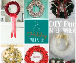 24 diy holiday wreaths to make