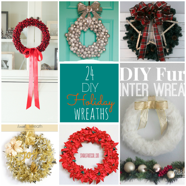 24 diy holiday wreaths to make