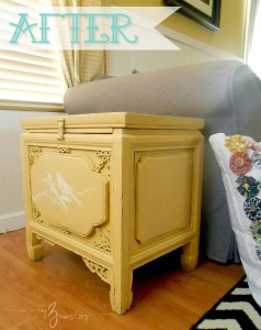 Stenciled Side Table Makeover After 2