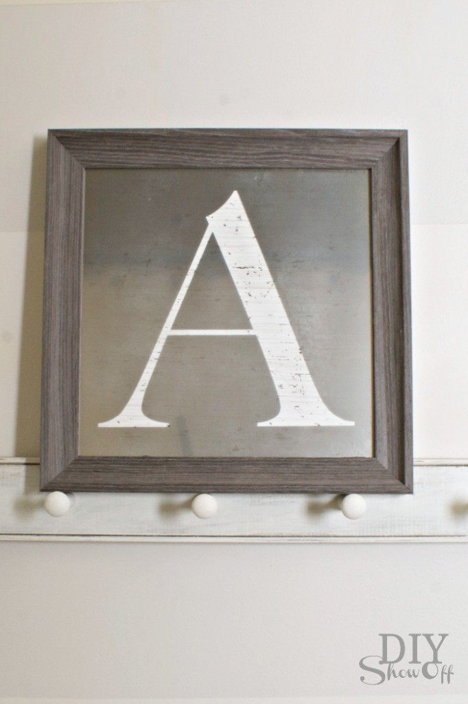 customizable Monogram Mirror
