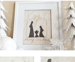 Happy Holidays: Unto Us A Child Is Born Stitchable