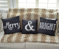 merry and bright free printable pillows