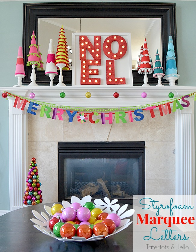 styrofoam marquee letters