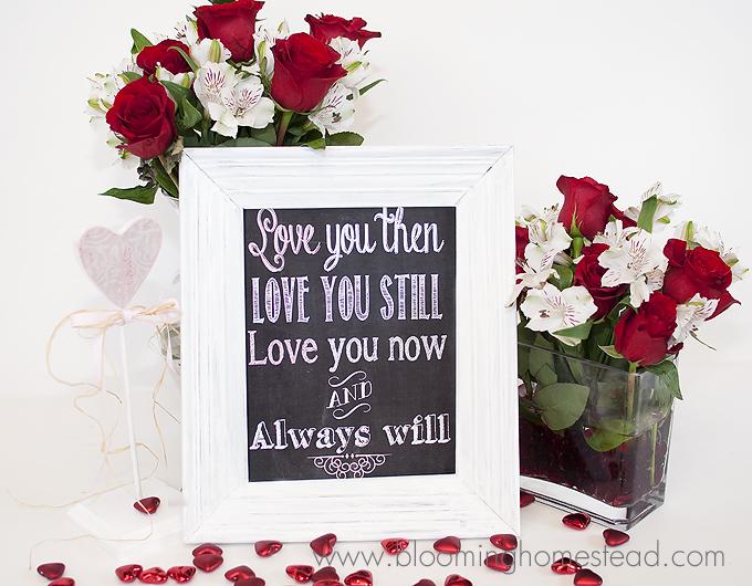 Valentine Chalkboard Printableweb