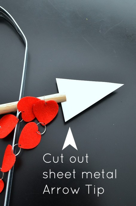 cut out metal arrow tip
