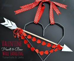 valentine industrical bow and heart wall hanging tutorial