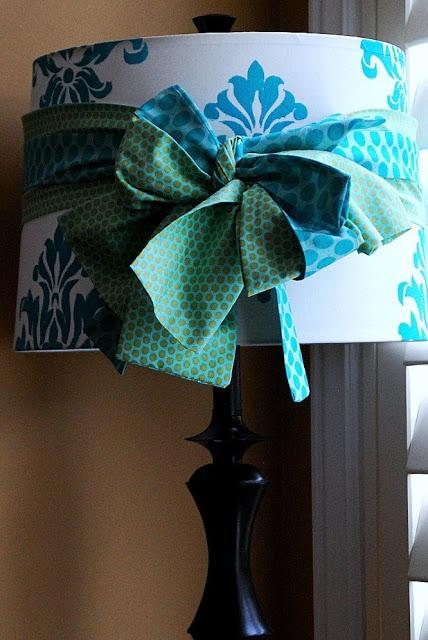 spring damask lampshade