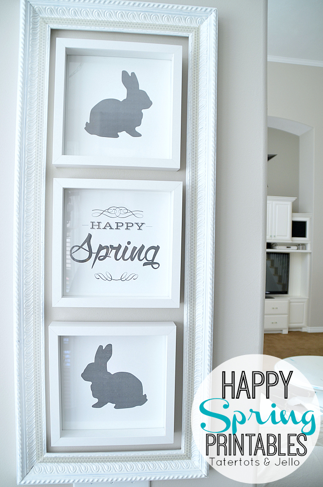 happy spring free printables at tatertots and jello