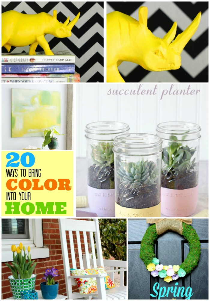 20 ways to bring color into your spring decor