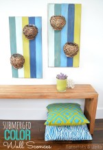 Submerged Color DIY Wall Art! #LowesCreator