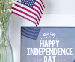Free Printable 4th of July Chalkboard