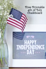 Happy Independence Day Free Chalkboard Printable