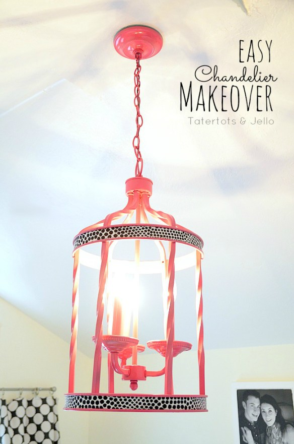 easy chandelier makeover at tatertots and jello