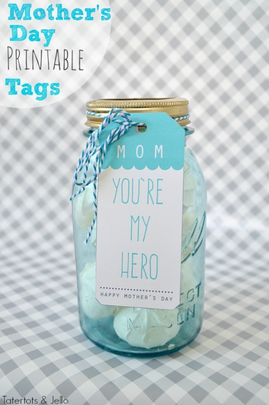 mother's day free printable tags at tatertots and jello