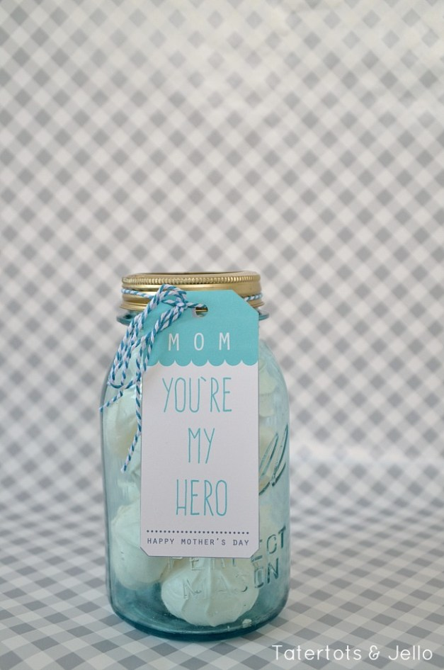you're my hero mother's day printable tags