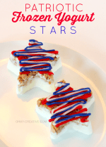 Patriotic Frozen Yogurt Stars