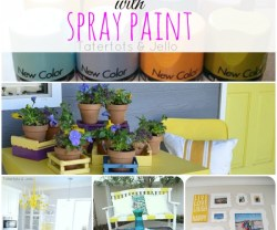 how to decorate with spray paint