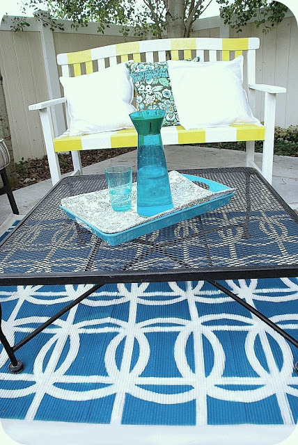 spray painted rug
