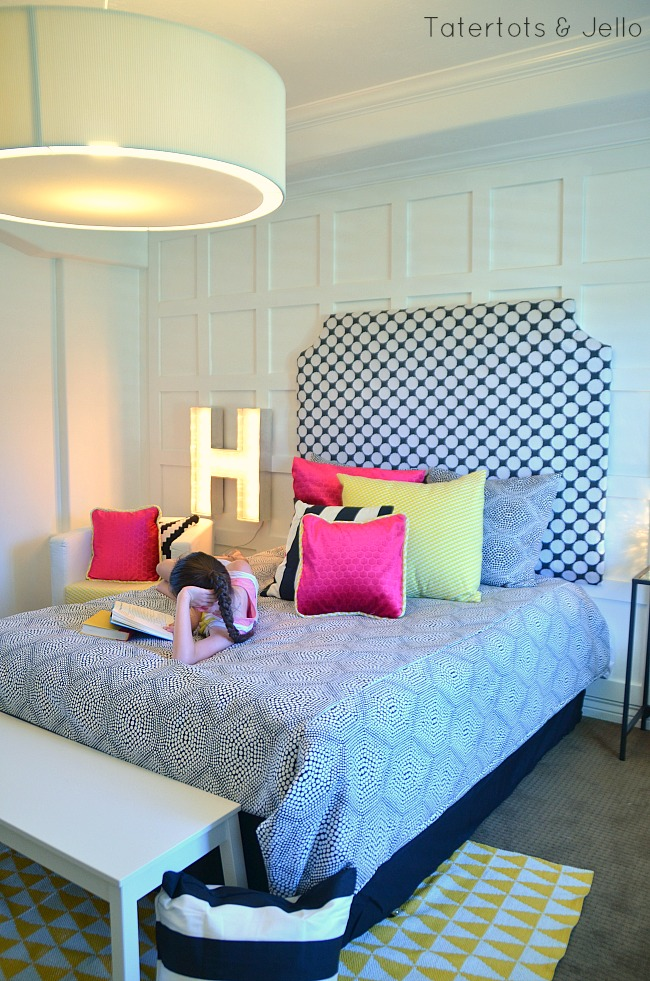 tween room reveal and details at tatertots and jello