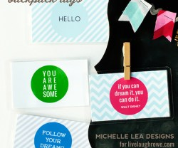 DIY Backpack and Lunch Box Tags