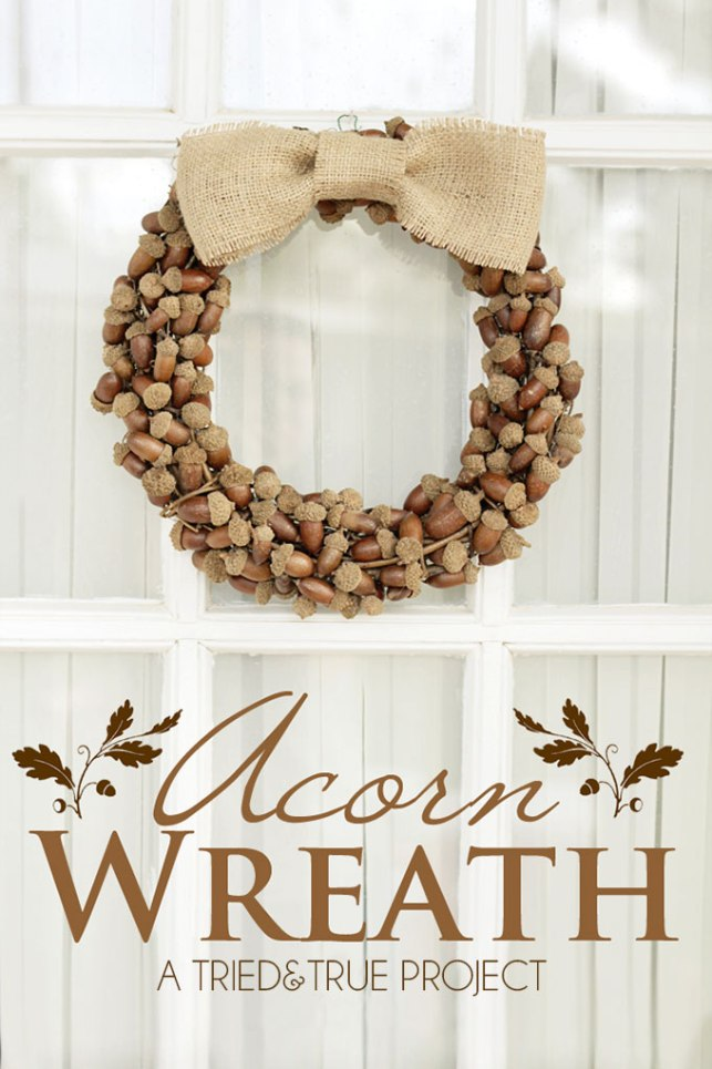 fall acorn wreath