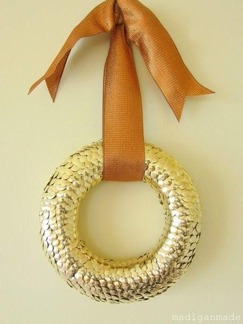 fall thumbtack wreath