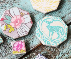 Gift Idea: Easy Decoupaged Tile Magnets!