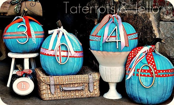 painted address pumpkins