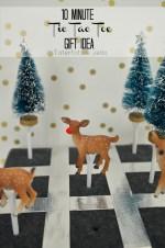 10 Minute Gift Idea – Tic Tac Toe Game!